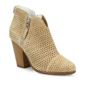 Rag & bone suede stucco perforated bootie!